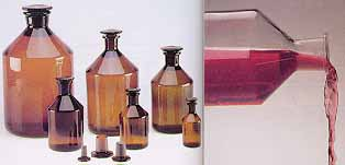 Wheaton Narrow Mouth Ground Glass Stoppered Bottles