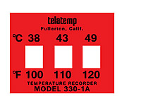 Telatemp Model 300 Temperature Recording Labels