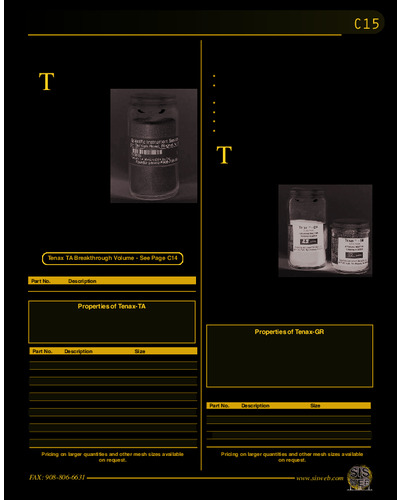Adsorbent Resin for Trapping Volatiles (Catalog C15)