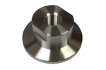 "Adaptor Flange to 1/8"" NPT in Stainless and Brass"