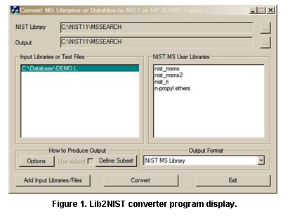 NIST 14 Mass Spec Library and Search Programs - User Manual