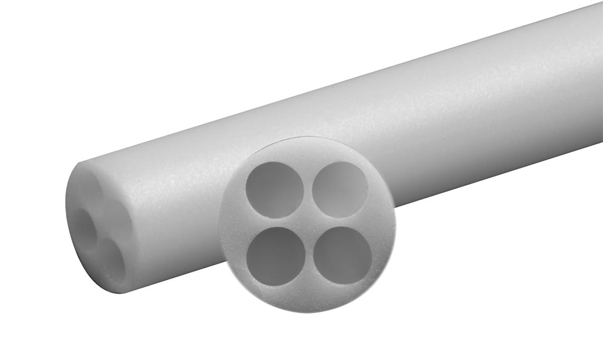 Four Hole Round Ceramic Tube Insulators