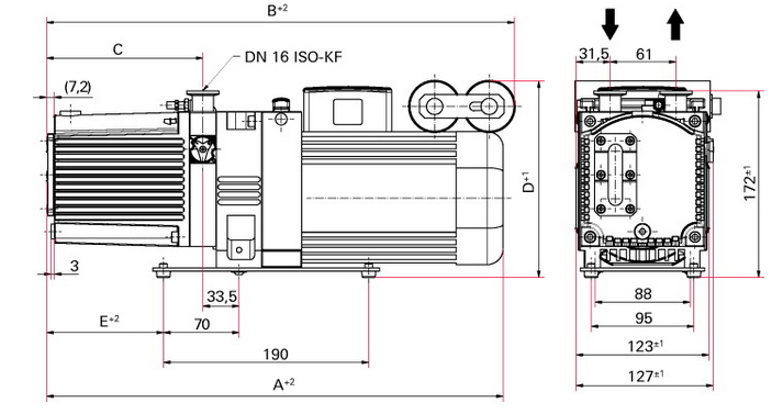 Duo 3 M 1 Phase Motor Vacuum Pump By Pfeiffer