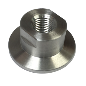 "Flange Adaptor to ¼"" NPT, 304 Stainless Steel, Brass, Aluminum"