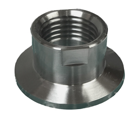 "Flange Adapter to 1/2"" NPT, Stainless"